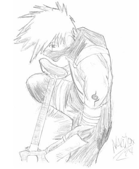 mis dibujos n_n nuevo 5/9/08 tobi/kakashi Kakashi