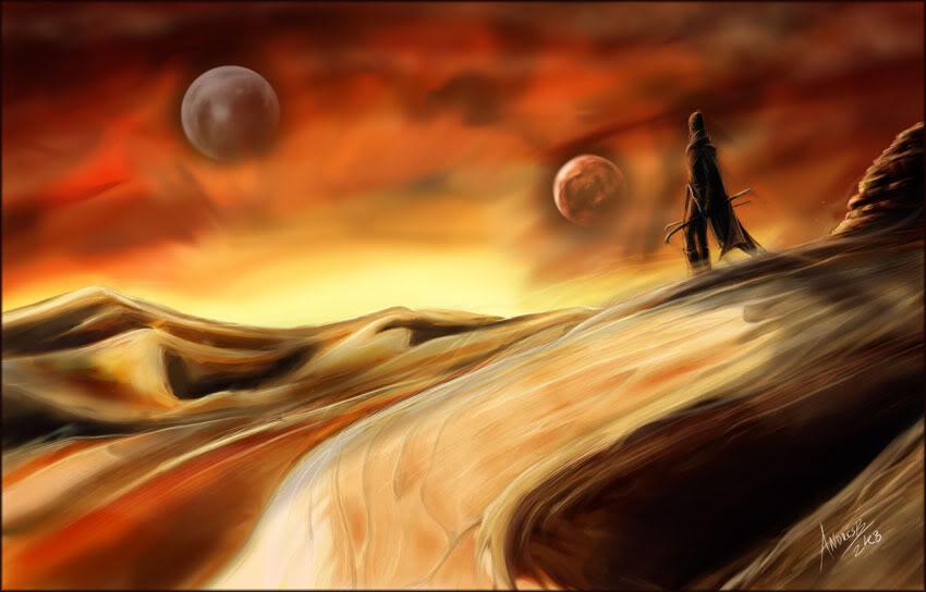 Dune, Arrakis and Fremen! new drawing Dune_final_sample