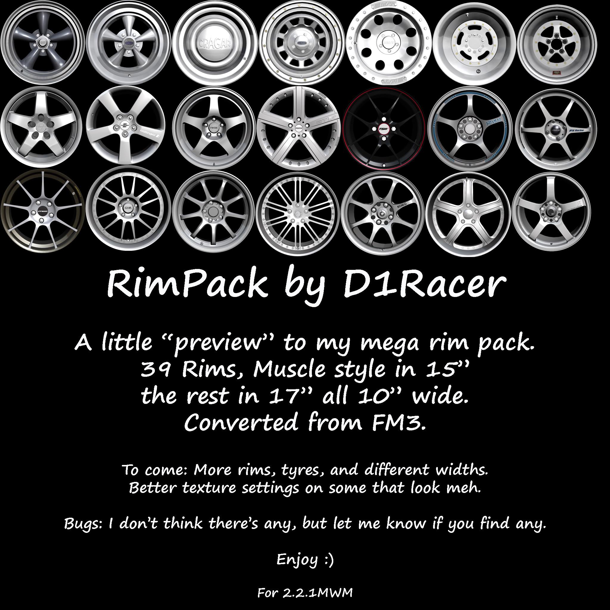 "D1's Rim Pack ""Preview"" RimsRelease"