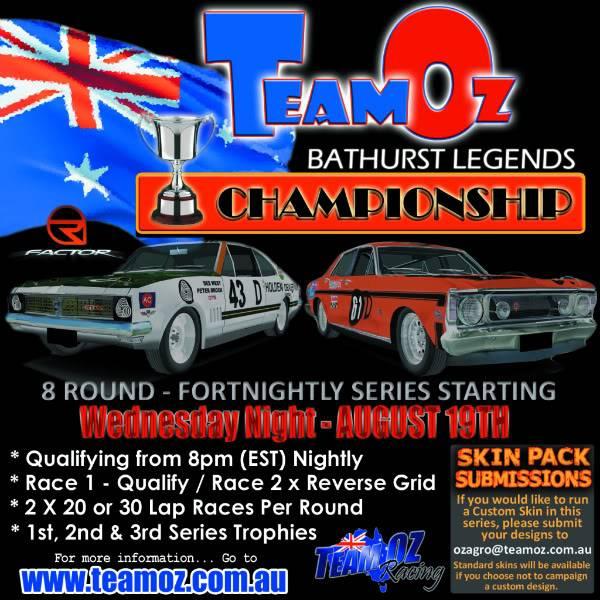 TeamOz Bathurst Legends series2 2009TeamOzBathurstLegendsPoster-1