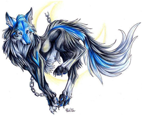 Element Tribes (Wolves) Bluewolf