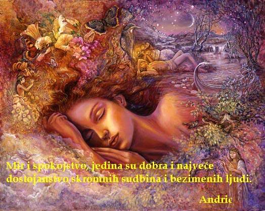 Poezija u slici Mirispokojstvo-Andric