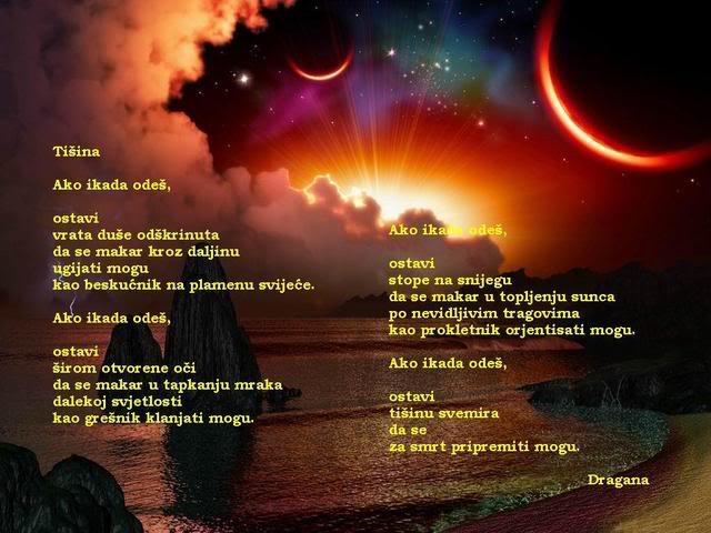 Poezija u slici Tisina-Dragana
