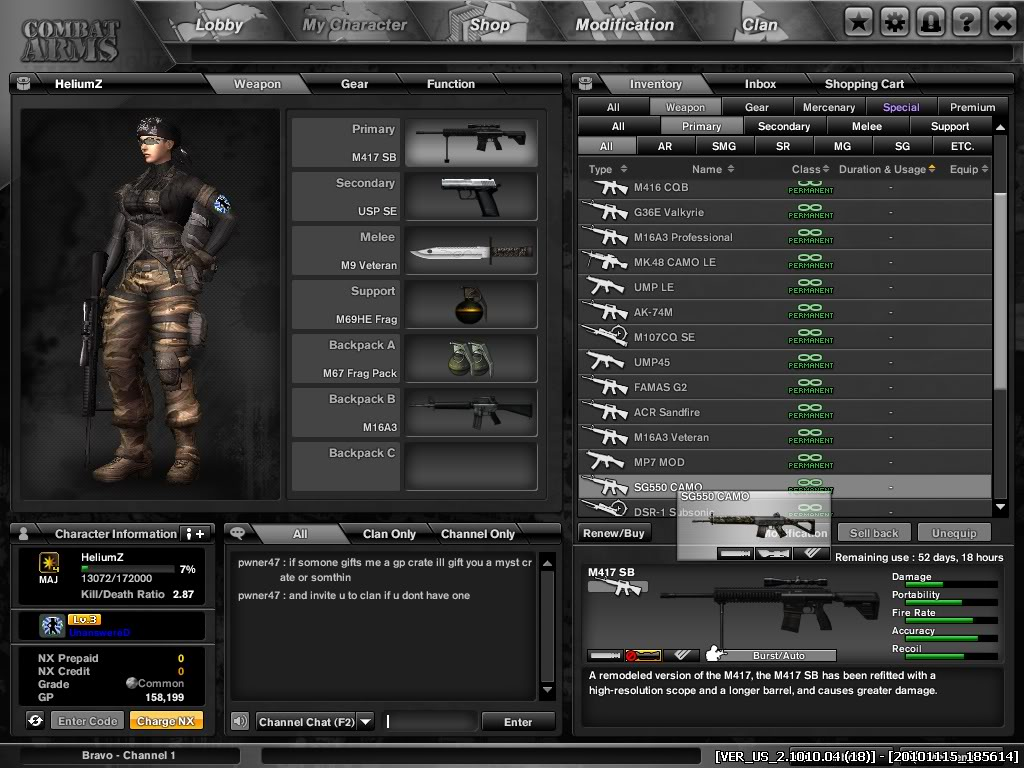 HeliumZ is from sg and i dont spend a cent yet i got some many perm gun :) Combat-Arms_14