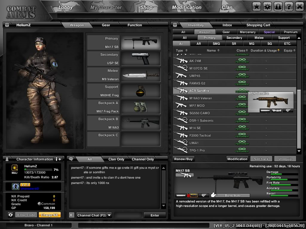 HeliumZ is from sg and i dont spend a cent yet i got some many perm gun :) Combat-Arms_15