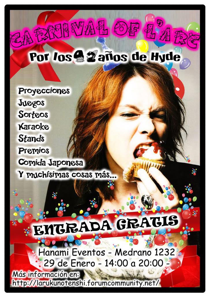 CARNIVAL OF L'Arc ¡¡EL EVENTO QUE ESPERABAS!! Folletocumplehyde2011JPG