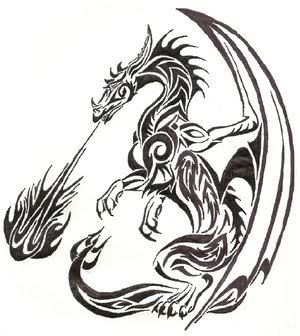 Aoi Rei (青い 零) (Reboot) Dragon_Tribal_by_redvarg