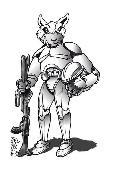 Foxtrooper, la première mascotte GSW - Les origines ! Seb103