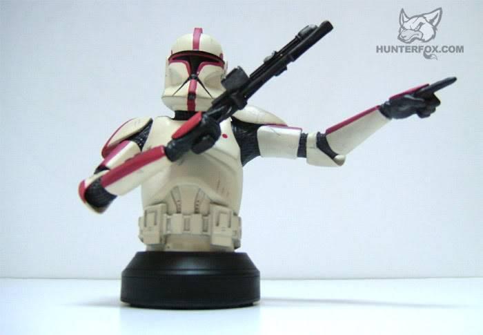 Clone Trooper Captain AOTC Mini bust 8000