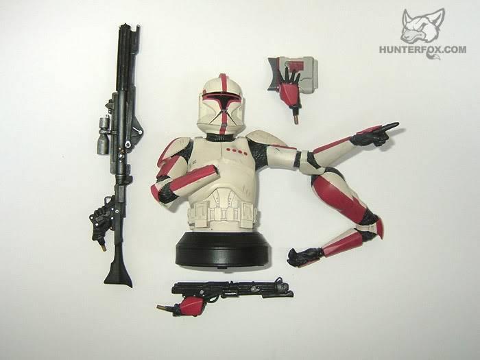 Clone Trooper Captain AOTC Mini bust 9000