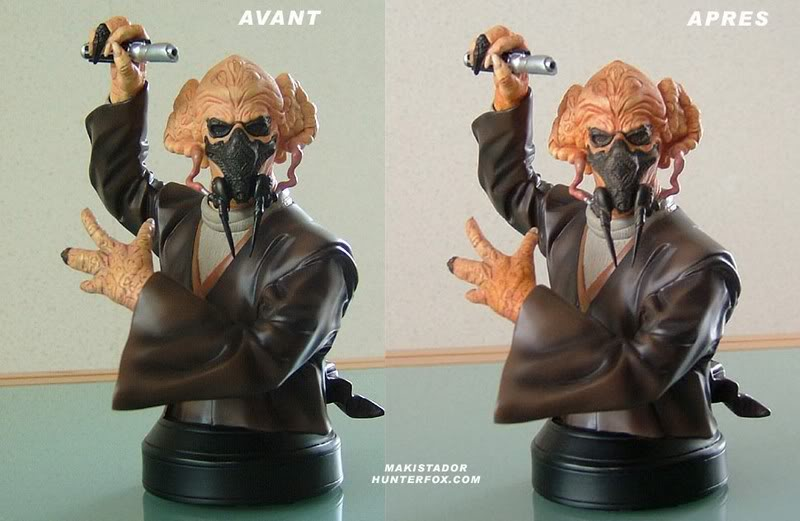 Custom - Peinture buste Plo Koon GG Plo9