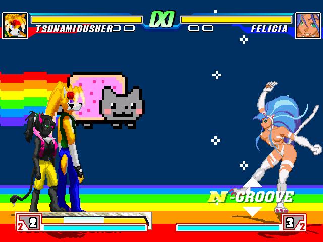 Crea tu videojuego de peleas con los personajes que quieras MUGEN Nyannyanyanya