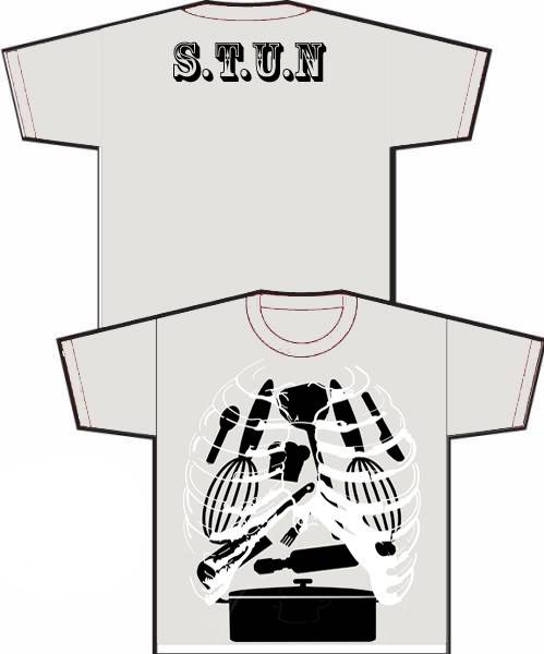 S.T.U.N Year tee for all to see only(copyright) Skeleteefinalblack