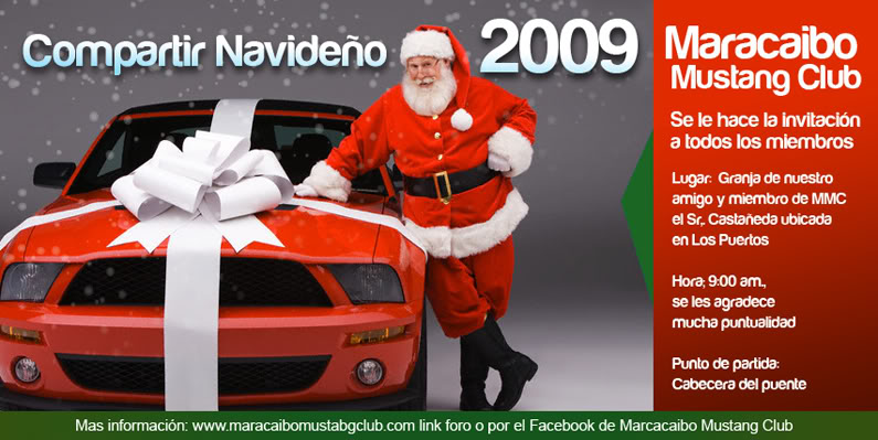 Invitacion al Compartir navideño 20 Dic. 2009 TrajetaMMCnavidad