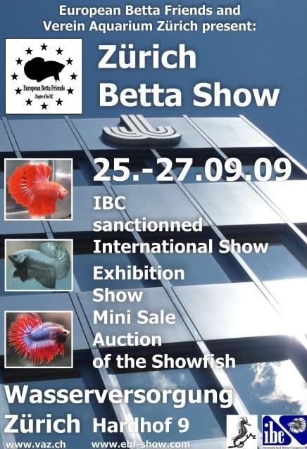 Zürich Betta Show, European Betta Friends, 25-26 sept. 2009 PlakatWebengl-1-1