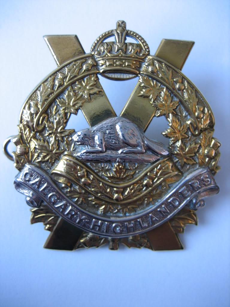 Calgary Highlanders cap badge Calgarysbadge004