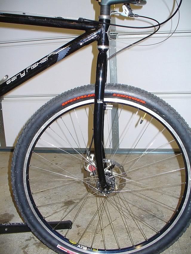 Steel 29er frameset, wheelset P1010162