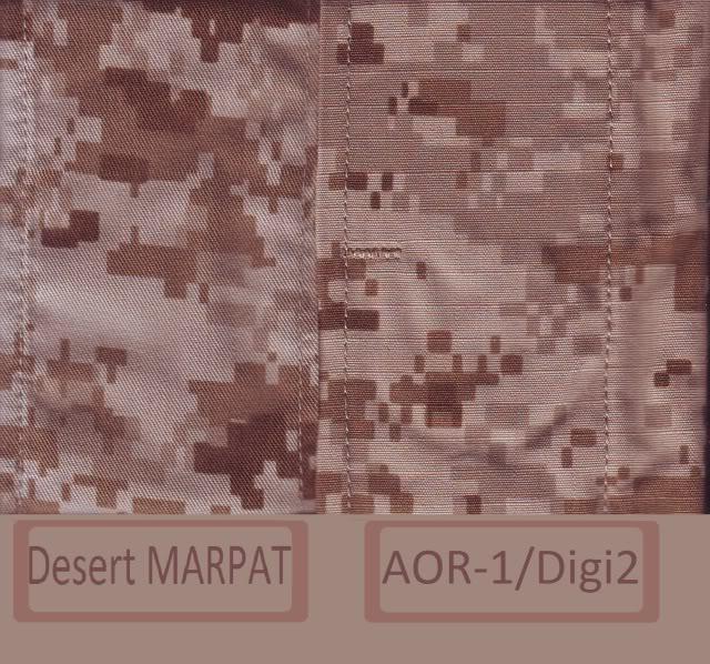AOR1/Digi2   NSW/DEVGRU Exclusive desert camouflage by Crye Precision MARPATDesertvsAOR1-Digi22