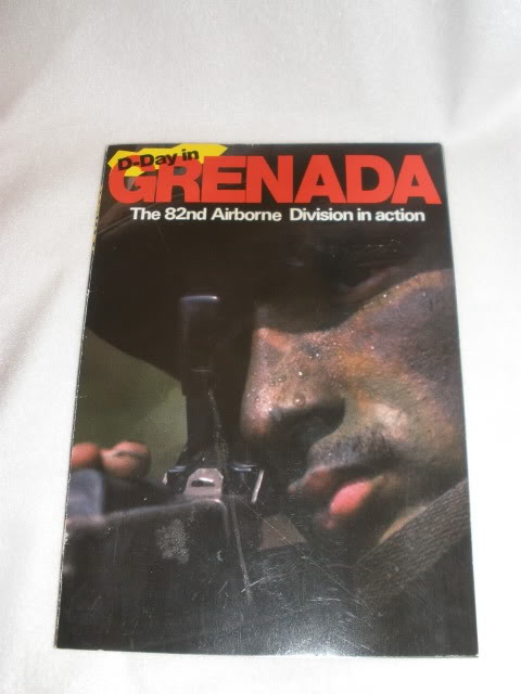 Grenada Bringback: Captured APC crewman's Helmet, canteen and Buckle P5110030