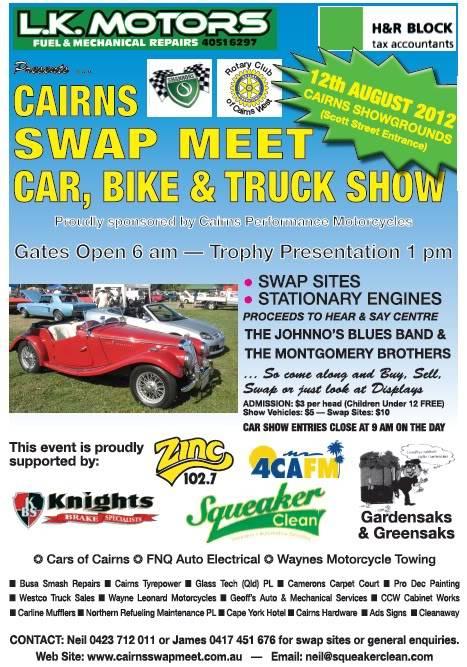 Cairns Swap Meet Car & Bike Show 2012 2012poster