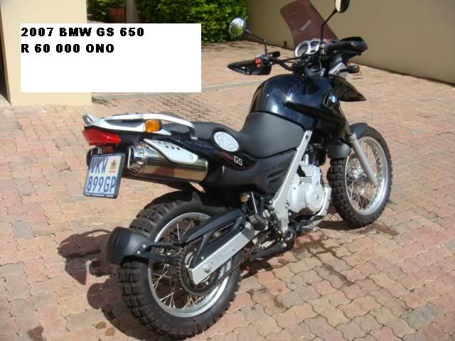 2007 650GS & 2005 Harley V-Rod FOR SALE LeonReneckeGS650