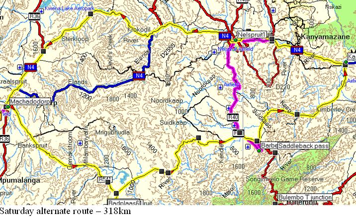 Badplaas Routes YEF2008Sataltroute