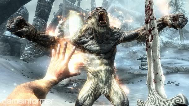 Delve into the combat of Skyrim Combat_TrollFireSword