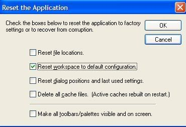 How To Reset Workspace in PSP 8, 9 & 10 3