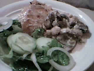 Lombo de pescada com cogumelos e bacon Picture470