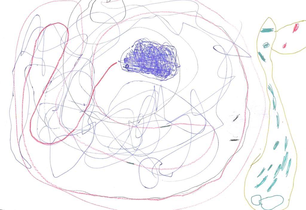 Sønnen min tegner April2008Marius