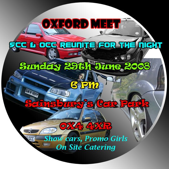 OCC & SCC Oxford Meet 29th June Sccocccarmeet
