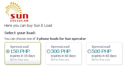 Want to e-load without going to the store? Sun