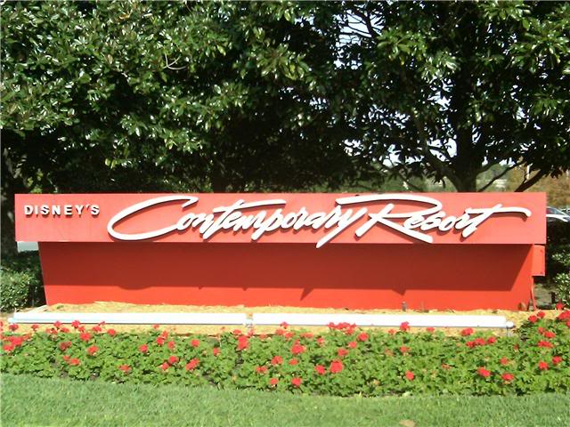 The Contemporary Resort! CRsign