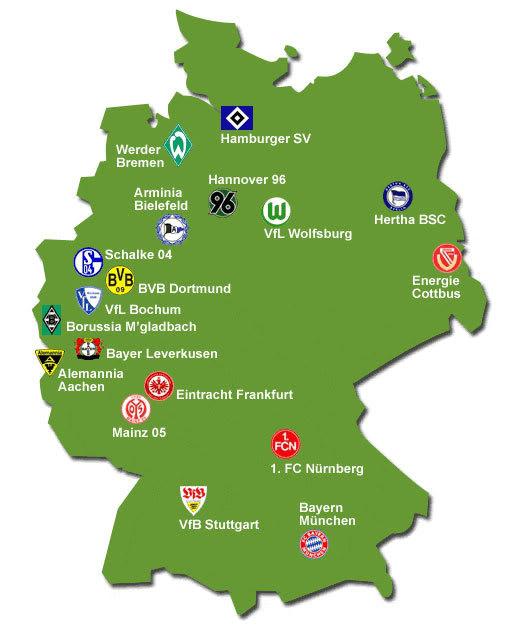 Bundesliga Karte