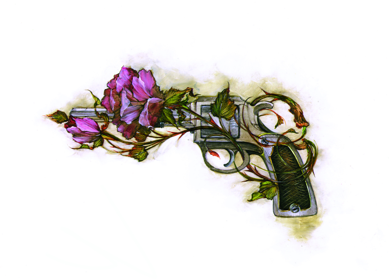 gun & rose Pictures, Images and Photos