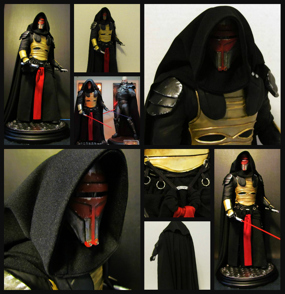 some of my custom STAR WARS Statues Revan_collage_zps8d7e969b