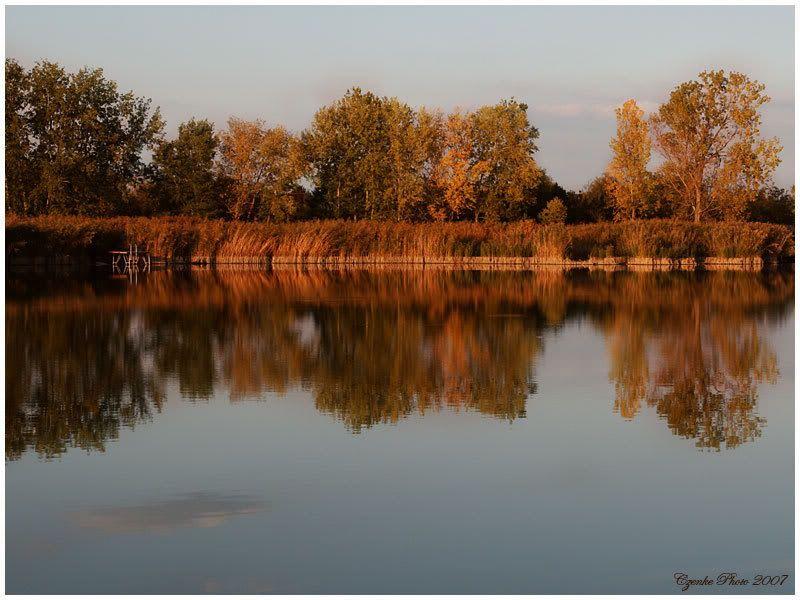 Lake of Szelid, Hungary, Europe! Szelidi-to-este