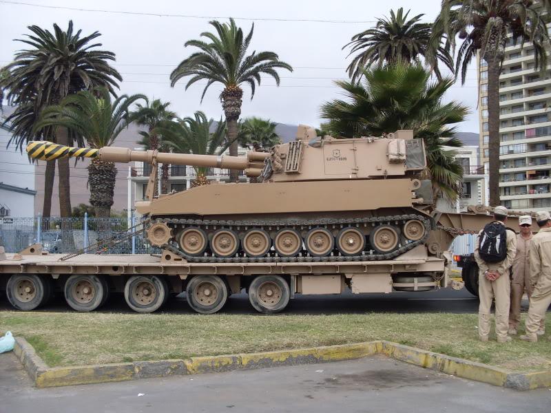 FF.AA DE CHILE M-109muestramilitarCavanchasep201023