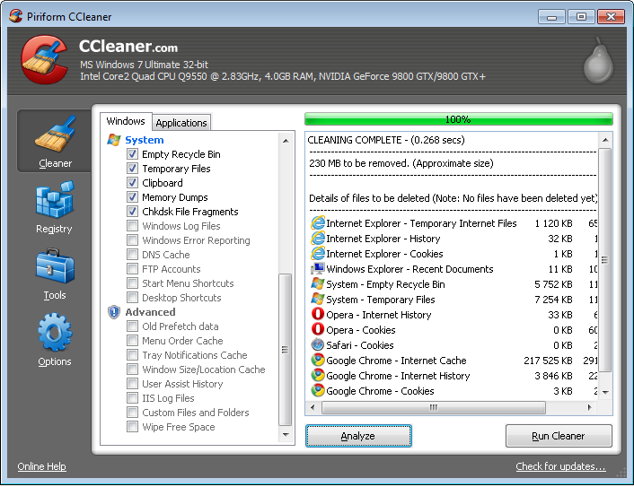 Ccleaner free Ccleanerscreen