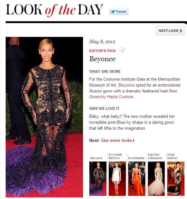 Beyoncé au MET Gala, NYC (08/05) - Page 2 BeyonceInStuleLookoftheDay5-8-12