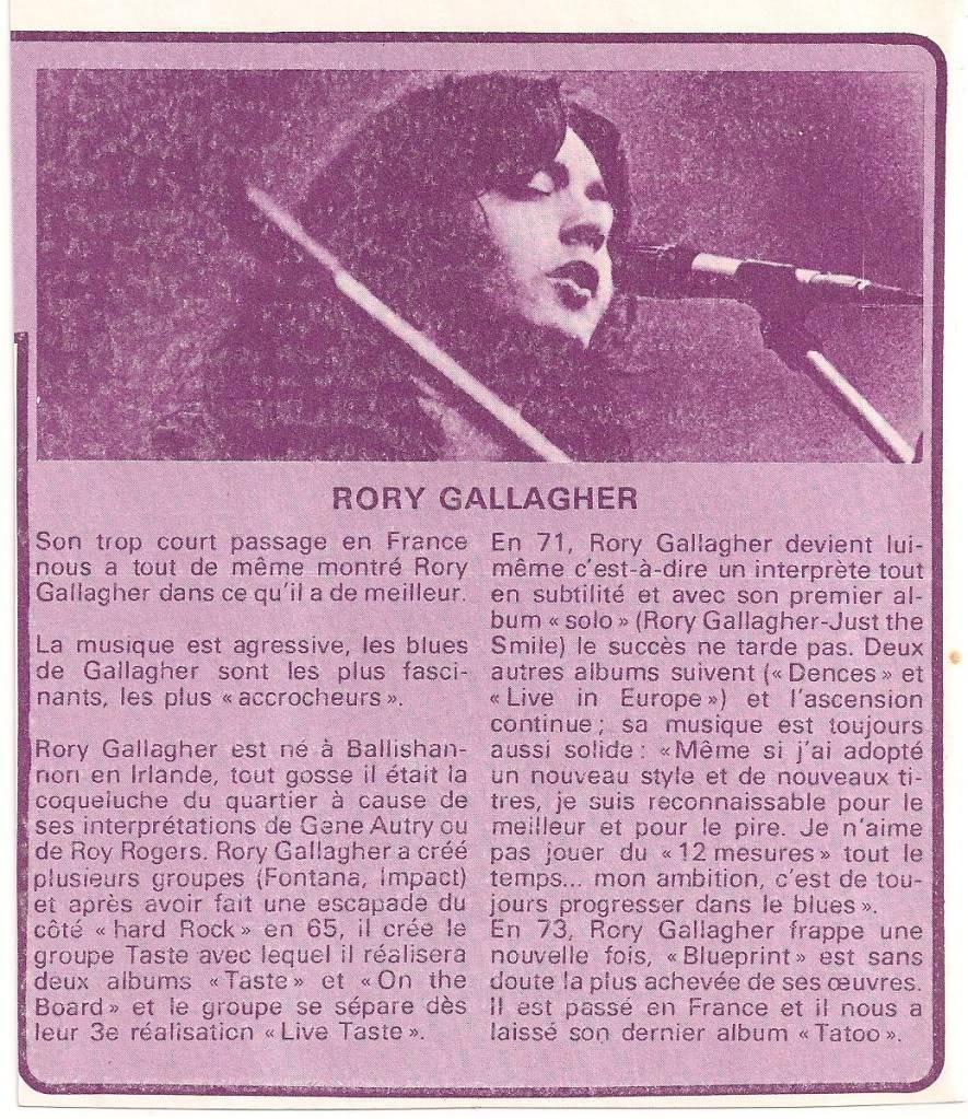 Rory dans les revues et les mags - Page 6 Tiltfevrier1974