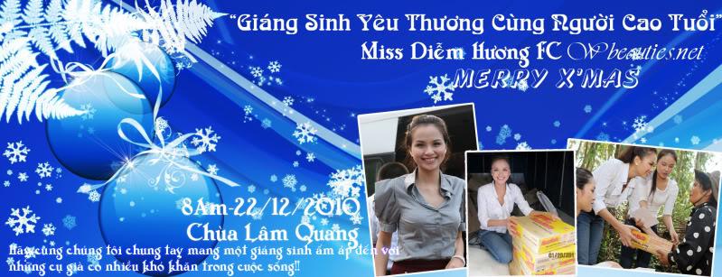 """Miss Diễm Hương FC,Wbeauties.net Offline """"Giáng Sinh yêu thương cùng người cao tuổi"""" Bannergiangsinh"""