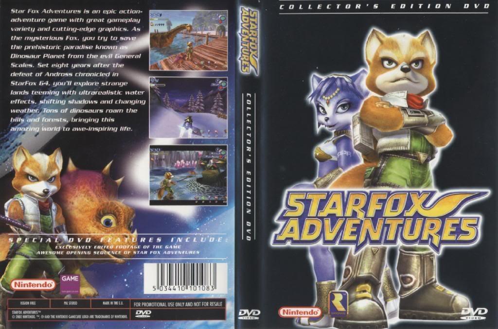 Star Fox Merchandise StarFoxAdventuresCollectorsEditionC