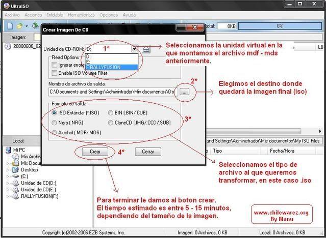 CAMBIAR LA EXTENSION DE ARCHIVOS DE IMAGEN Ultraiso2