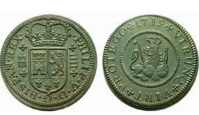 4 Maravedíes de Felipe V (Valencia, 1718-1719) Image1