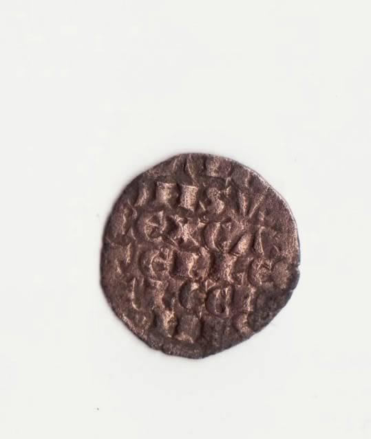 Dinero de la guerra (6 líneas) de Alfonso X (ceca 3 puntos, 1263) [Roma 199, 9-c] Obolo1001