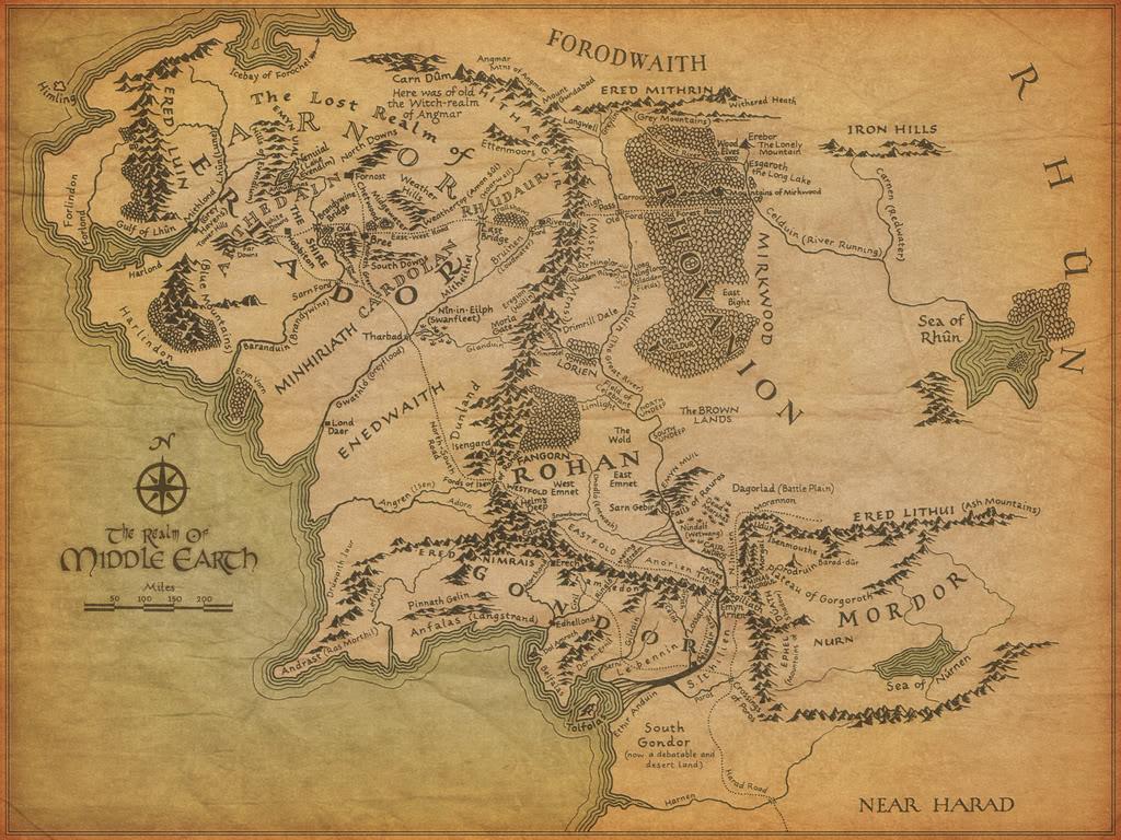J.R.R. Tolkien y El Señor de los anillos - Página 2 Middle20earth20map20wallpaper