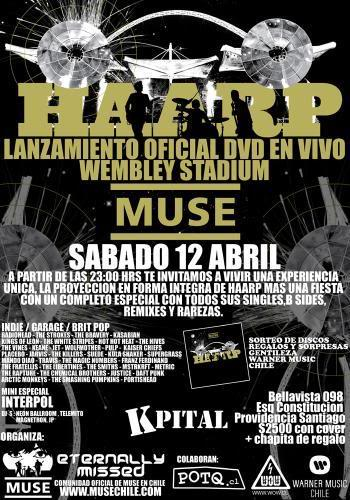 """MUSE """"HAARP"""" Lanzamiento Oficial Dvd 1muse"""