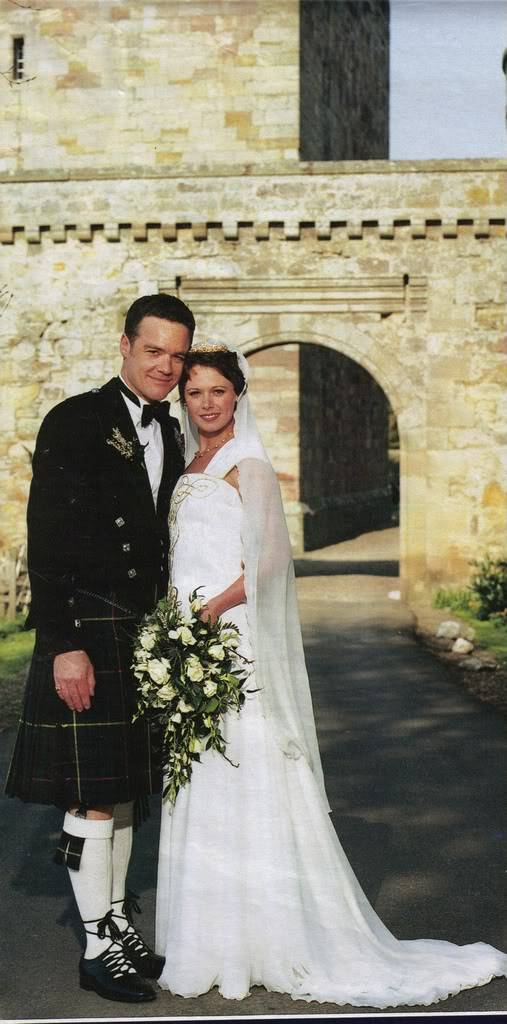 Australian Stefan made Gail his wife at Borthwick Castle, near Edinburgh. He got in to the spirit of her homeland by wearing a traditional kilt, while the bride chose a Lindsey Flemming gown. Pictures, Images and Photos