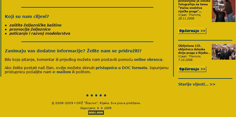 """Web stranice DPŽ """"Štacion"""" St_1000p"""